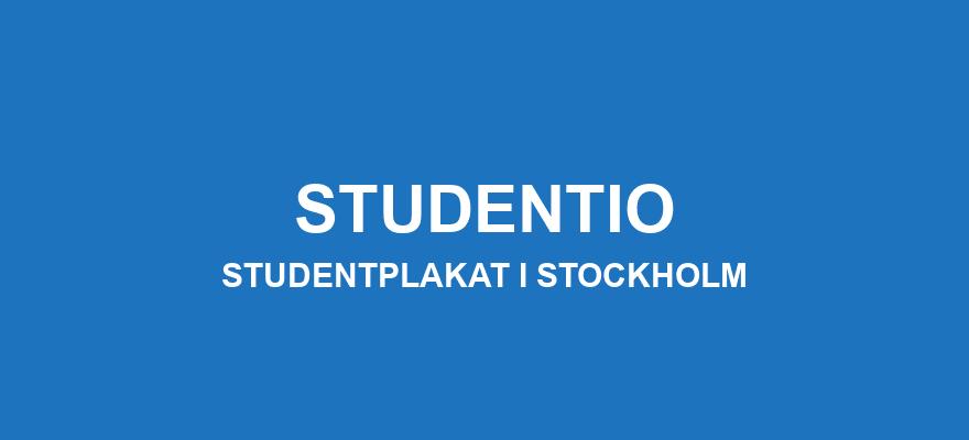 Studentplakat Stockholm